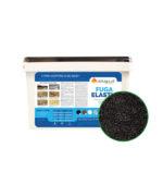 fuga żywiczna elastic fugmix czarna perłowa czerń do czarnych płyt ciemna ciemnych płyt gresowych na taras tarasie do fugowania